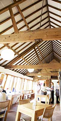 Inside Walsingham Barns